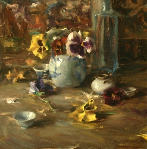 Arrangement with Pansies
